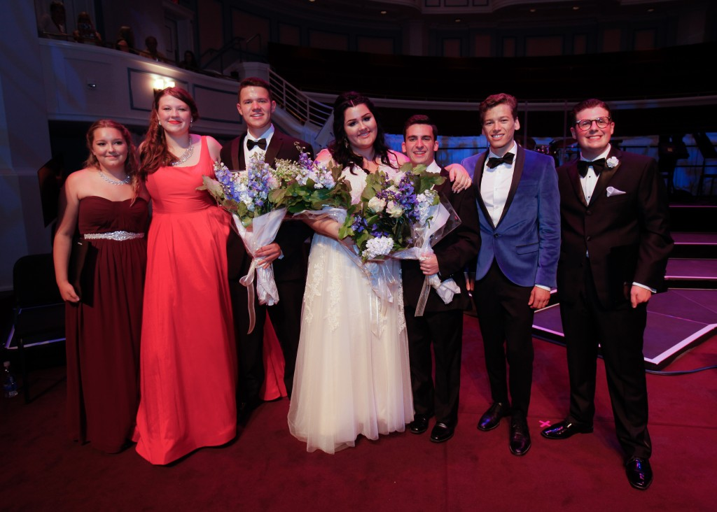 John Burroughs High School senior Brighton Thomas (center) won the 2016 Great American Songbook Foundation's Youth Ambassador award. (Photo Courtesy Great American Songbook Foundation)