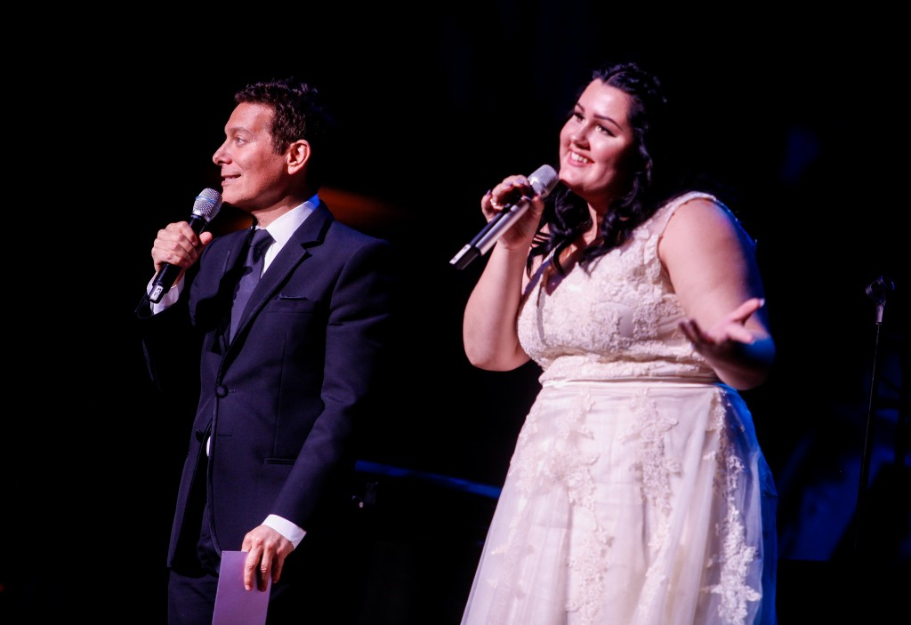 Brighton Thomas, a senior at John Burroughs High School, competes in the 2016 Great American Songbook Foundation finals. (Photo Courtesy Great American Songbook Foundation)