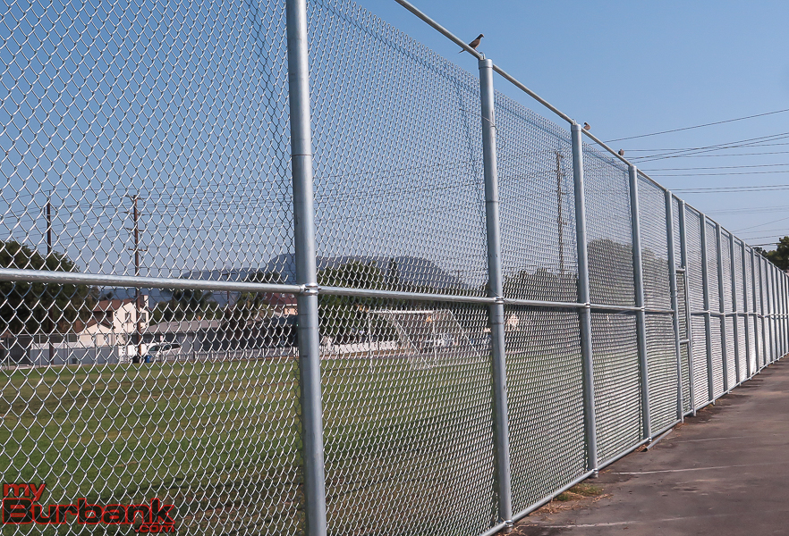 New fencing at BUSD Adult School adjacent to Luther Middle. (Photo by © Ross A. Benson)