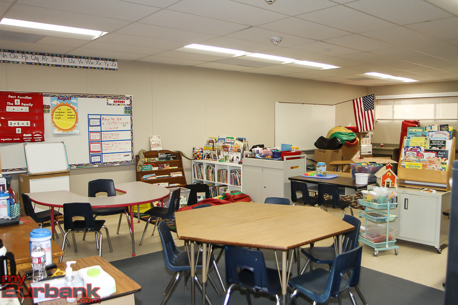 Interior of new permanent Modular Classroom at Emerson Elementary.(Photo by © Ross A. Benson)