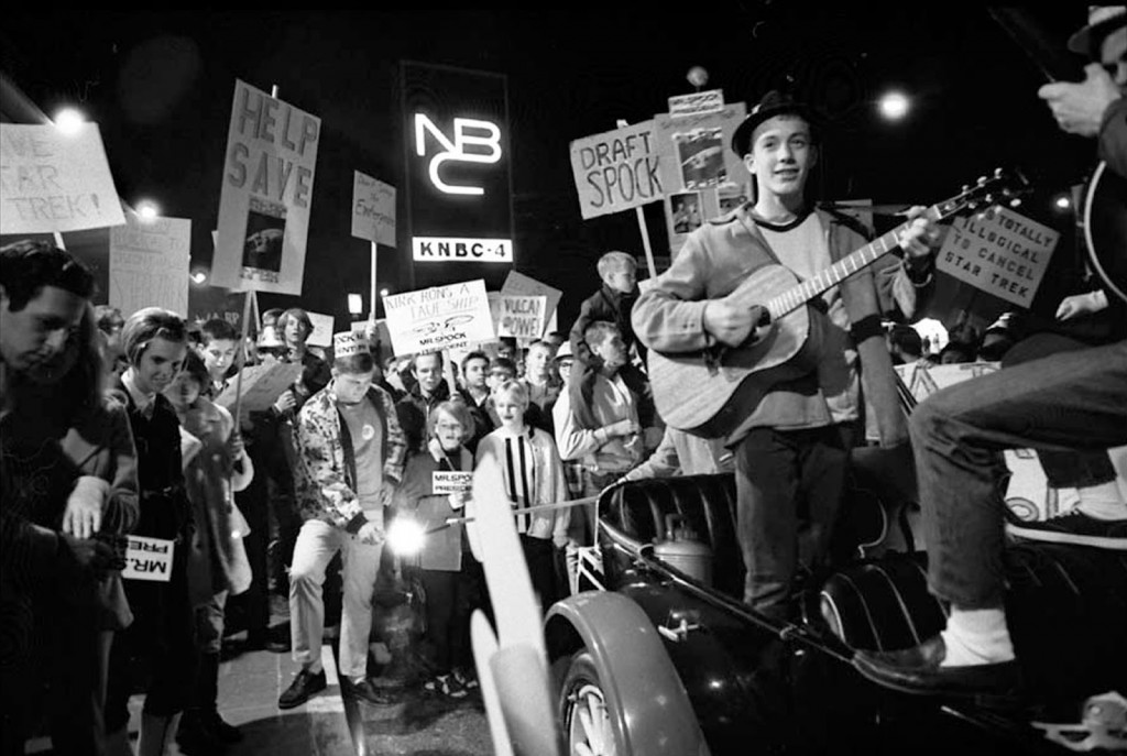 In 1968, Caltech Students rallied at NBC in Burbank to bring Star Trek back another season