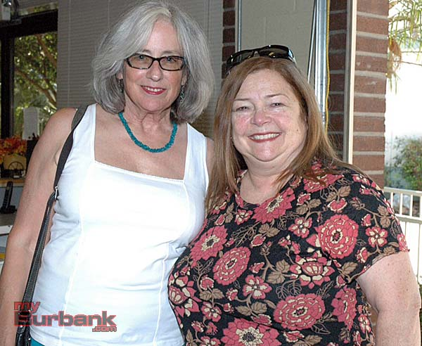 Stephanie Llewelyn, left, and Deborah Richman visit the Burbank Museum