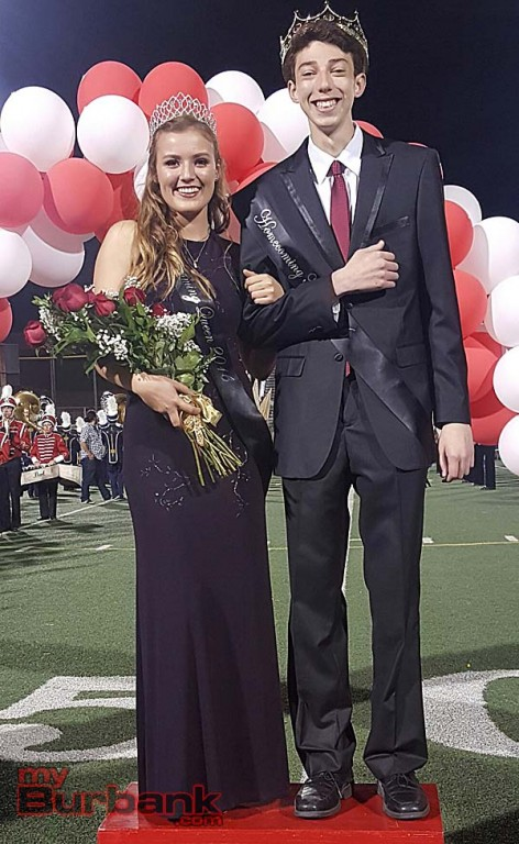 Burroughs High King Sully Zack and Queen Emma Bartram (Photo By Ross A. Benson)