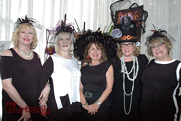 Centerpiece committee members are, from left, Mary Fraser,  Vendor Chair Cindy Birch, Centerpiece Chair Carrie McCoy, Beth Bowles and Jamie Eller.