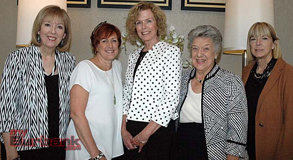 Officials with the Children's Hospital Los Angeles Associates and Affiliates are, from left, Administrator Suzanne Lapis, Treasurer Pat Maskell, Project Coordinator Robin Hyland, Chair Bonnie McClure and Chief Risk Officer Karen Prommer.