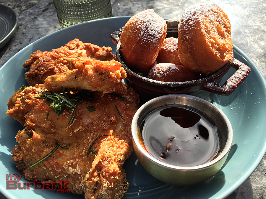Fried Chicken 'N' Beignets at Descanso Gardens' Maple. (Photo By Lisa Paredes)