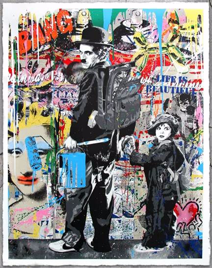 A Special Feature During The Auction Is Availability Of Limited Edition Print Charlie Chaplin By Celebrity Street ArtistMr Brainwash