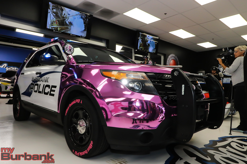 bpd unveiling pink car west coast customs photo by ross a. Black Bedroom Furniture Sets. Home Design Ideas
